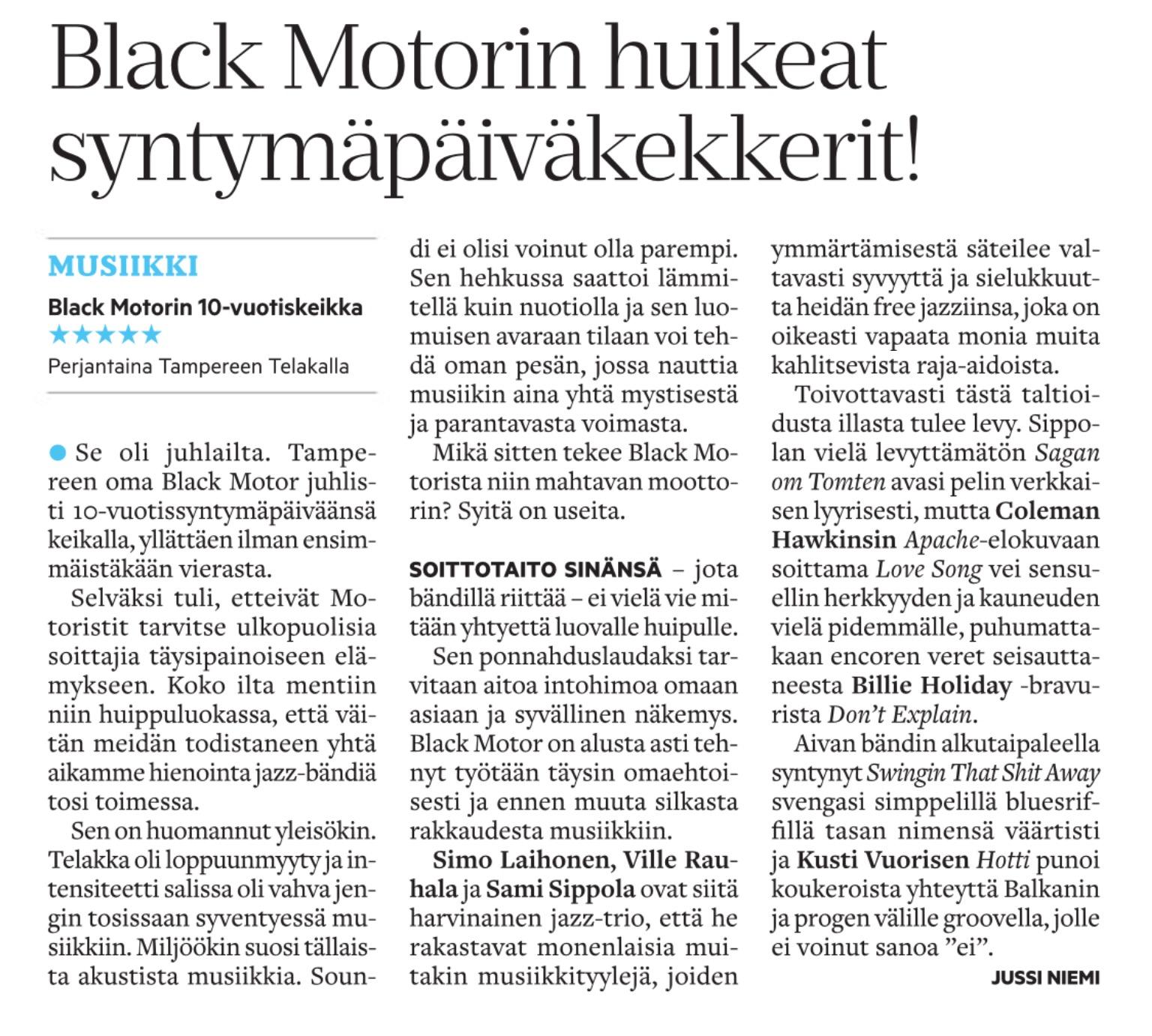 Aamulehti 13.1.2015